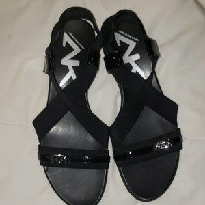 Anne Klein sandals.